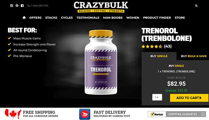 Trenorol Canada official website